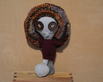 Alien, Gray Alien with Slouch Hat, Crocheted Amigurumi