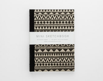 SHAPES mini sketchbook A6 in geometric tribal pattern