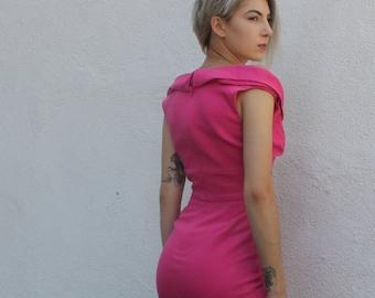 Vintage 1950s pink dress SIZE 0-2