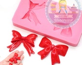 Ribbon Bow Set Mold 764m Cupcake Topper Fondant Gumpaste Polymer Clay fimo Cookie topping Chocolate Melts Flexible Mold BEST QUALITY