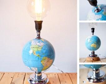 Unique Globe Table Lamp 'Marco' | Repurposed