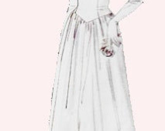 OFFICIAL 1944 DESIGN -VOGUE 2384- Vintage Wedding Gown & Bridesmaid Pattern Size 12 thru Size 22/Choice of Size