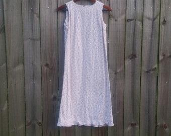 Vintage Girls Youth Junior Kids Ditzy Floral Print Prairie Sleeveless Sundress Dress