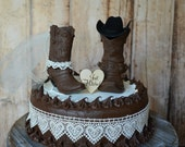 cowboy boot wedding cake topper Just hitched sign country barn weddings cowgirl boot bride and groom western weddings bride and groom decor