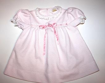 RETRO BABY DRESS - Vintage Girl - Polka Dots - Vintage Carters - 18 Months