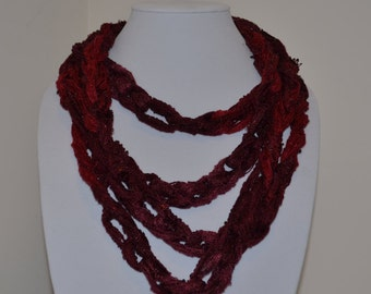 Maroon and Plum Chain Scarf/Necklace - Many Colors Available!