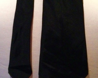 Vintage late 1930s Black 'Curtis Cravat' Rayon Necktie