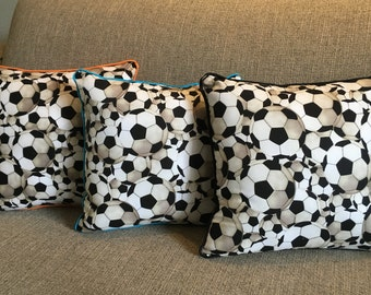 Soccer Pillow customizable to your team/favorite colors