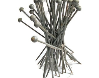 vintage hardware, metal nails, 8 inch, rubber headed pins, mystery Happy Father's Day!