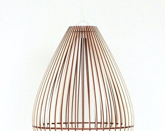 Wood Lamp / Wooden Lamp Shade / Hanging Lamp / Pendant Light / Decorative Ceiling Lamp / Modern Lamp /