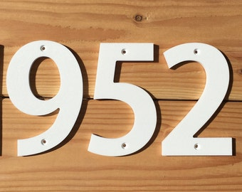 "5"" Standard House Numbers Letters black or white"