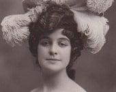 Edwardian Actress Paulette Del Baye Antique Photo Postcard
