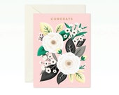 White Rose Congratulations Card