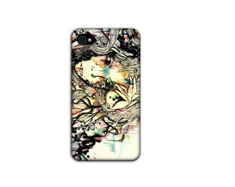 Art Cell Phone Case - iPhone 4 case - Watercolor and ink - Case for iPhone - iPhone 4 - accessory - case