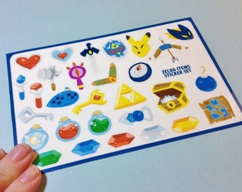 Legend of Zelda Sticker Sheets