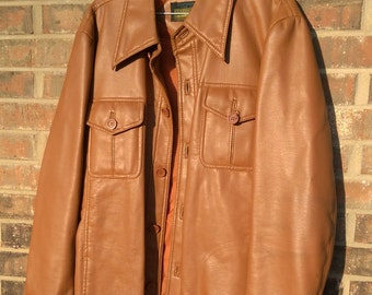 Vintage Brown Pleather Jacket