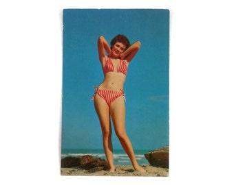 Cheesecake Postcard RRPC Bikini Pin Up Coming Swimming? Photo by H.W. Hannau S-1218