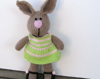Bunny Doll Easter Bunny Stuffed Bunny Rabbit Bunny Kids Plush Bunny Knit Rabbit Toy Soft Cuddly Bunny Stuff Bunny Kids Toy Child Toy Daisy