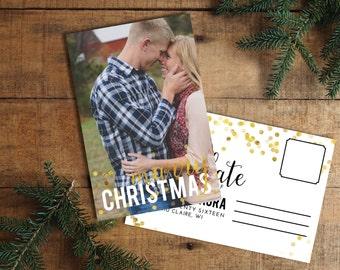 Christmas Card, Photo Christmas Card, Digital Christmas Card, Holiday Card, Marry Christmas, Christmas Save the Date, Wedding Christmas Card