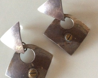 Sterling Silver Vintage Articulating Post Earrings