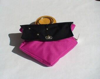 Funky Pink and Black Anchor Handbag
