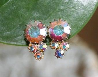 1940's Rare Aurora Earrings Clip