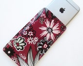 90s GIRLY GOTH FLORAL - Hand-Painted Leather iPhone 6/6s Case - Phone Sleeve
