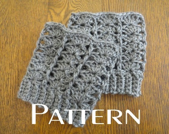 Crochet PATTERN Lacy Boot Cuffs DIY Boot Toppers