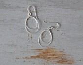 Silver Hoop Earrings - Sterling Silver Delicate Wire Hoop Earrings - Timless, Easy to Wear