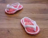 PATTERN Instant Download Baby Flip Flops Crochet Newborn 0-3 and 3-6 size