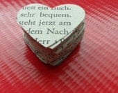 GERMAN Heart Punches Die-Cuts Confetti Embellishments for Mixed Media Art, Collage, Junk Journal, Card Making, Scrapbooking