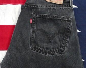 Levis Black 501 Jeans 33W 33L, Levis Strauss, Vintage Levis, Denim, Levis Jeans, Straight Leg Jeans, Mens 501 Jeans, Womens 501 Levis, 90's