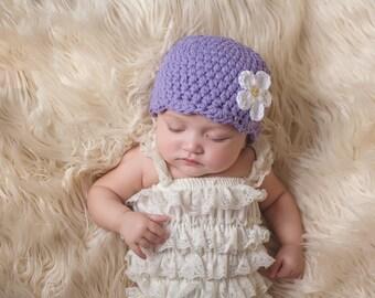 Newborn Baby Girl Hat Newborn Girl Hat Newborn Hat Girl Grape Baby Hat Purple Baby Hat Baby Beanie Baby Girl Clothes Baby Girl Beanie