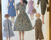 UNCUT Vogue Craft Pattern 7010 11 1/2 Doll Clothes Retro 1950's - 1960's Style Clothes Dress, Rockabilly, Mad Men