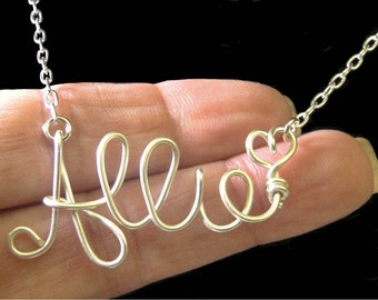 Name Necklace, FREE SHIPPING, Personalized Name Jewelry, Wire Name Necklace, Custom Name Necklace, Personalized Jewelry, Personalized Gift