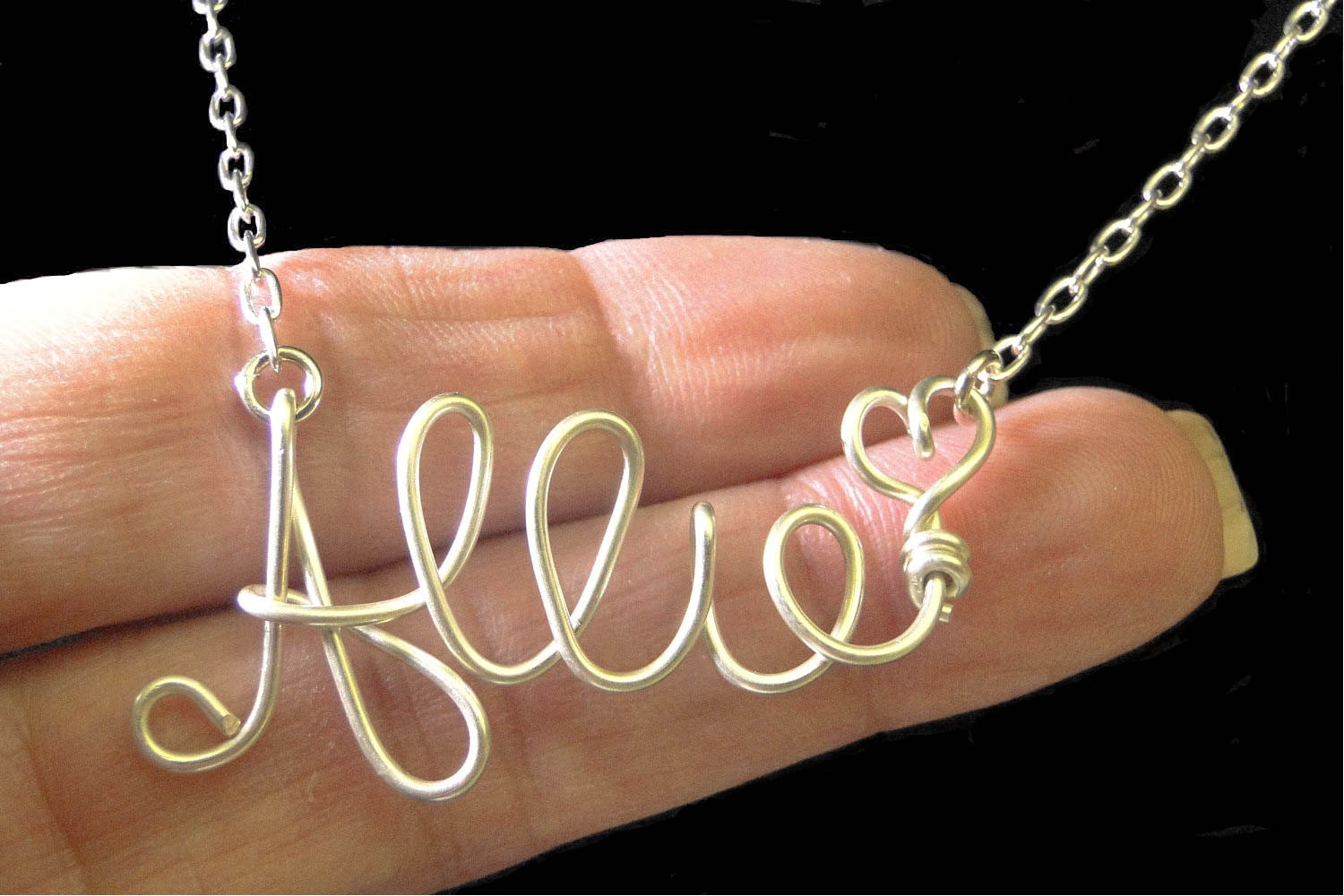 Name Necklace, Custom Silver Necklace, Gold Name Necklace ...
