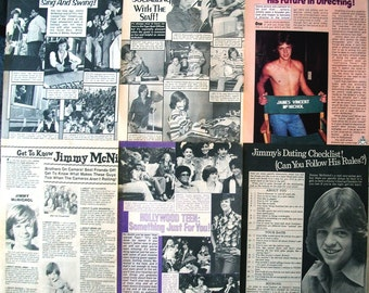 JIMMY MCNICHOL ~ General Hospital, California Fever, Smokey Bites the Dust, The Fitzpatricks ~ Color and B&W Articles from 1978-1985