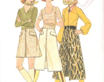 """Vintage 1970 Butterick 5945 Skirt in Three Lengths Sewing Pattern Size Waist 25 1/2"""""""