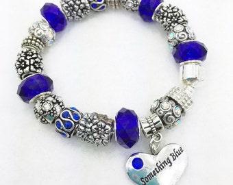 Something Blue Charm Bracelet