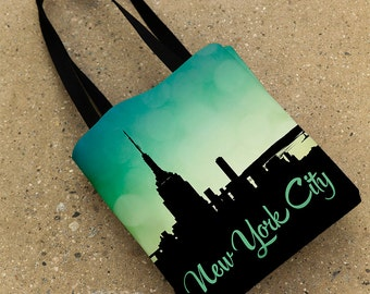 New York City Tote Bag, NYC Tote, Purse, New York Skyline, Empire State Building, New York Tote, NYC Purse, NYC Gift, 15x15 Photo Tote Bag