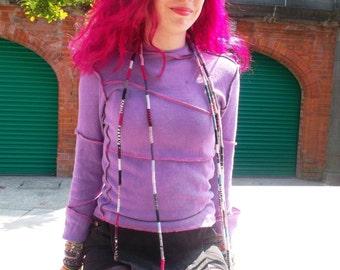 Upcycled Purple Hoodie
