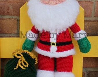 PDF Pattern: Santa Claus **Crochet Pattern Only, Not Actual Doll!!**