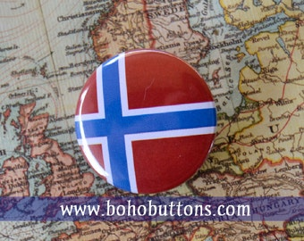 Norway Flag Pinback Button, Magnet, Badge, Norway Button, Norwegian gift, Oslo Pin, Souvenir Gift, Traveler Norway Keychain, Europe Pin