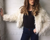 With the Band 1970s Faux Fur Cropped Jacket