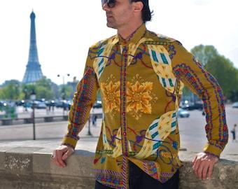 Gauzy Fabric Men Shirt BAROQUE
