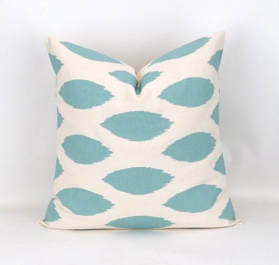 Blue Ikat Euro Sham Big Pillow Floor Pillow by DeliciousPillows
