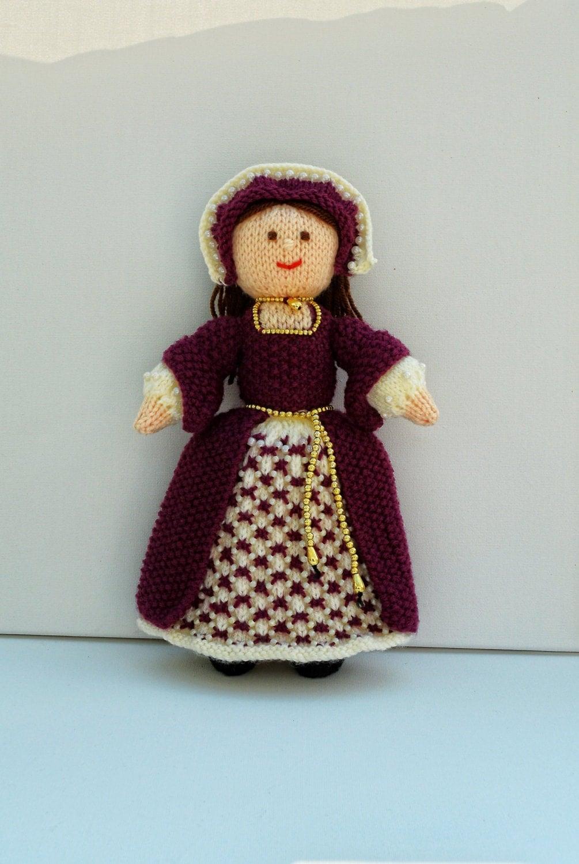 Beaded Knitting Patterns Half Dolls : Tudor Doll Doll Knitting Pattern Toy Knitting Pattern Yarn