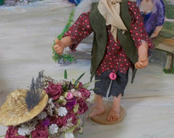 "Handmade Art Doll ""Jinksy Juniper"" a Steampunk Elf Reserved please do NOT buy"