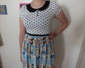 Super Kawaii Dress - Women's - Size M/L - One of A Kind - Lolita - Peter Pan Collar
