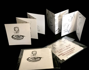 Little Wildernesses (original drawings concertina bound/folded by hand) by Elizabeth Blue